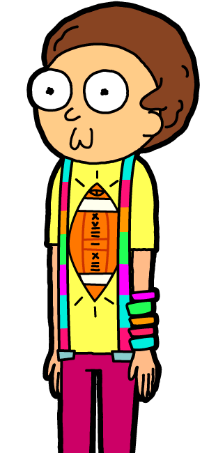 Rainbow Shirt Morty